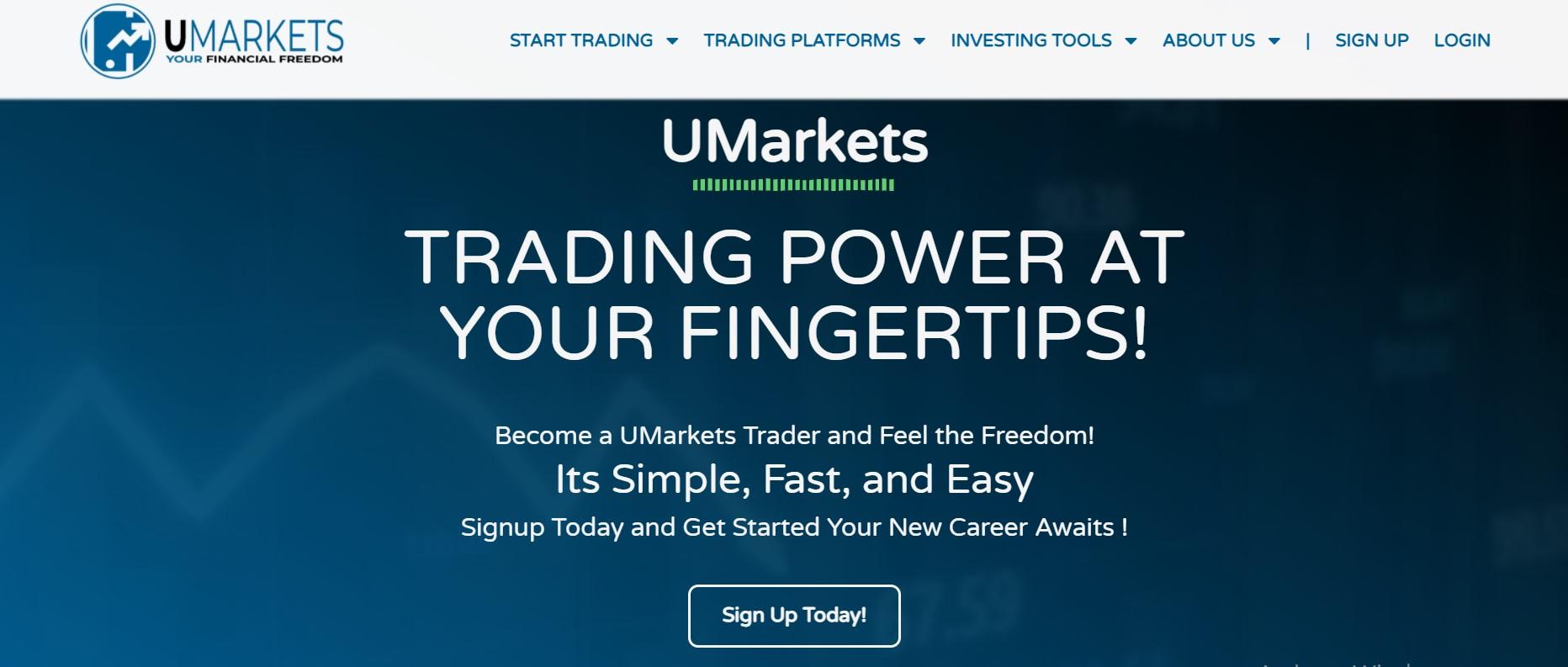 UMarkets website