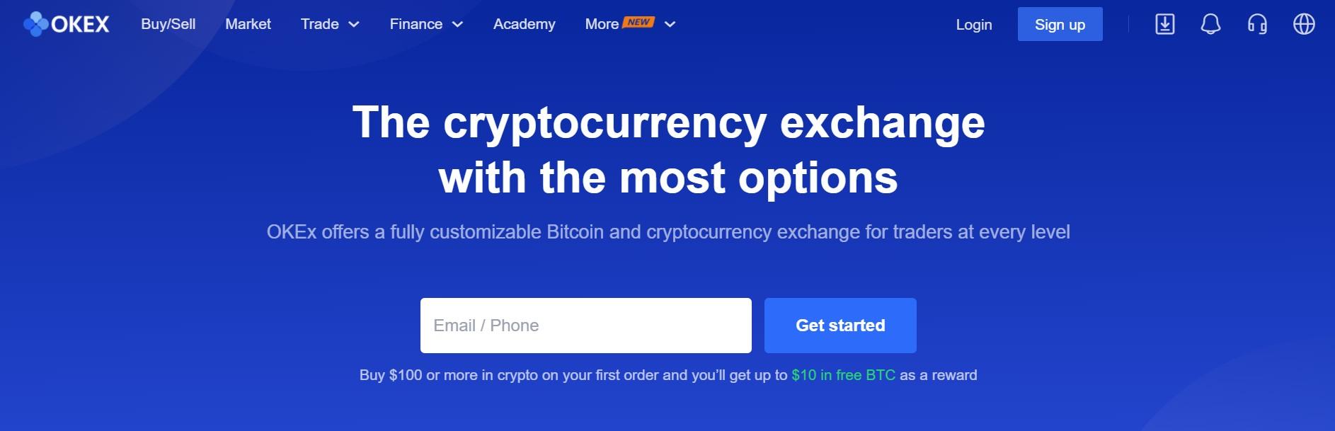 OKEx website